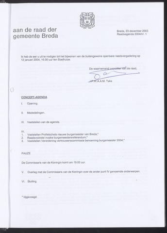 Breda - Bijlagen bij de notulen van de gemeenteraad 2003-12-23