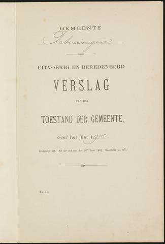 Teteringen - Verslagen van de toestand van de gemeente 1915