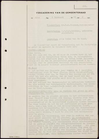 Teteringen - Notulen en bijlagen van de gemeenteraad 1963