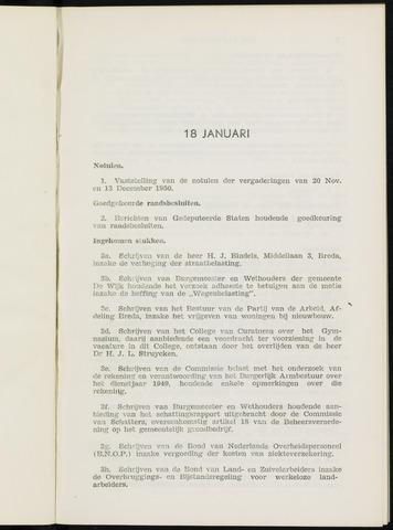 Breda - Notulen van de gemeenteraad 1951-01-01