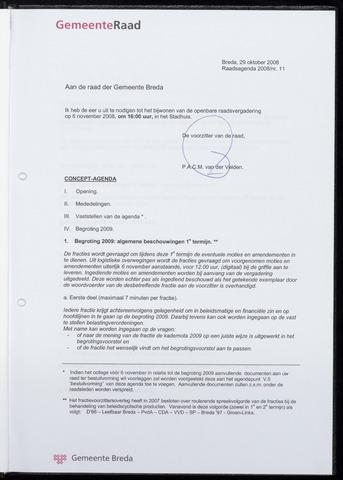 Breda - Bijlagen bij de notulen van de gemeenteraad 2008-11-06