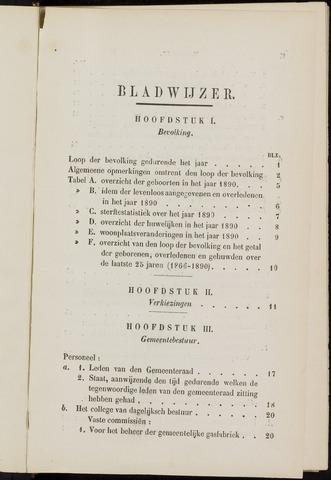Breda - Verslagen van de toestand van de gemeente 1890
