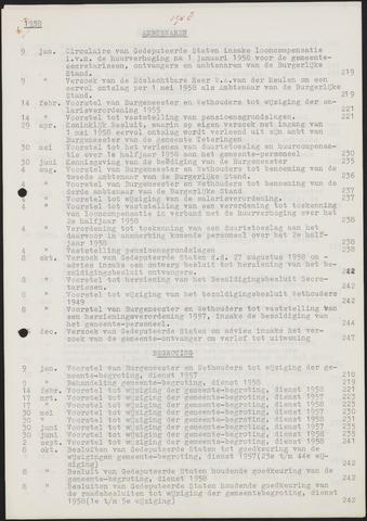 Teteringen - Indexen op de notulen van de gemeenteraad 1958-01-01