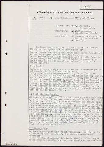 Teteringen - Notulen en bijlagen van de gemeenteraad 1966