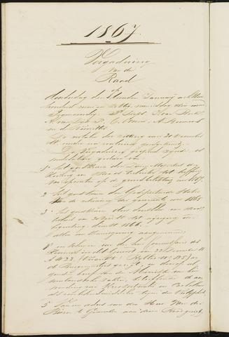 Teteringen - Notulen en bijlagen van de gemeenteraad 1867