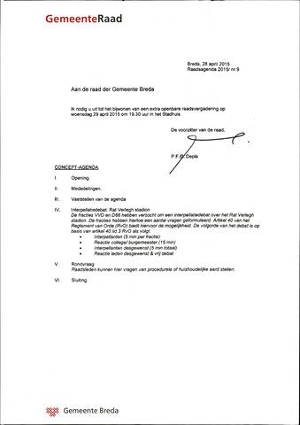 Breda - Bijlagen bij de notulen van de gemeenteraad 2015-04-29