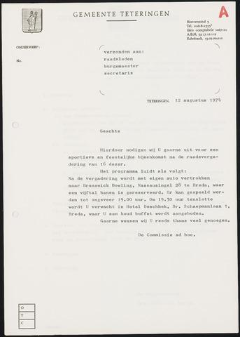 Teteringen - Notulen en bijlagen van de gemeenteraad 1974-08-16