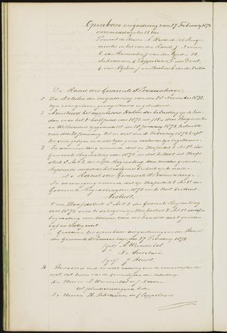 Princenhage - Notulen van de gemeenteraad 1873-01-01