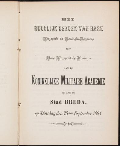 Breda - Verslagen van de toestand van de gemeente 1894