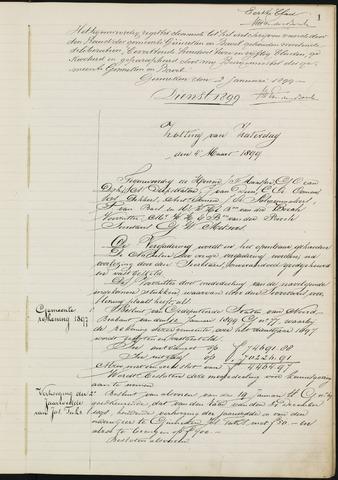 Ginneken en Bavel - Notulen van de gemeenteraad 1899-01-01