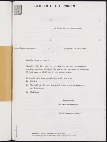 Teteringen - Notulen en bijlagen van de gemeenteraad 1983-06-30