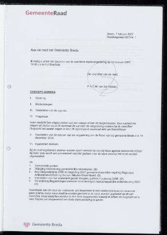 Breda - Bijlagen bij de notulen van de gemeenteraad 2007