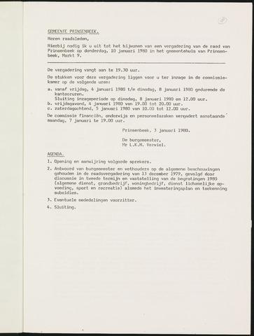 Prinsenbeek - Notulen van de gemeenteraad 1980