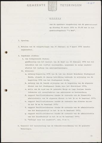Teteringen - Notulen en bijlagen van de gemeenteraad 1976-03-30