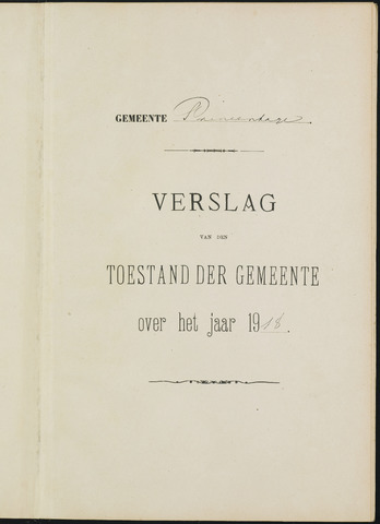 Princenhage - Verslagen van de toestand van de gemeente 1918-01-01