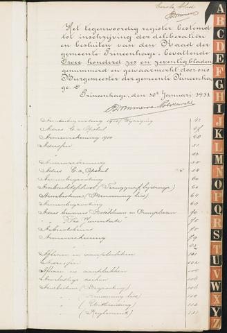 Princenhage - Indexen op de notulen van de gemeenteraad 1911-01-01