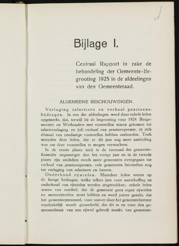 Breda - Bijlagen bij de notulen van de gemeenteraad 1925-01-01