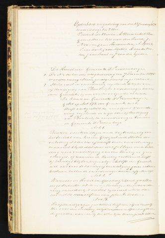 Princenhage - Notulen van de gemeenteraad 1876