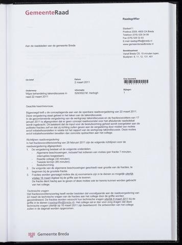 Breda - Bijlagen bij de notulen van de gemeenteraad 2011-03-22