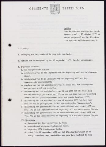 Teteringen - Notulen en bijlagen van de gemeenteraad 1977-10-25