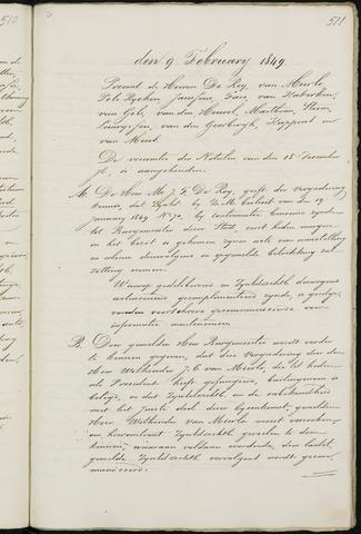 Breda - Notulen van de gemeenteraad 1849-01-01