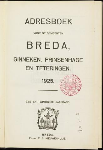 Adresboeken 1925-01-01