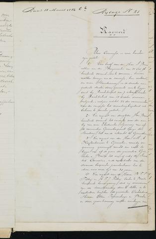 Breda - Bijlagen bij de notulen van de gemeenteraad 1882