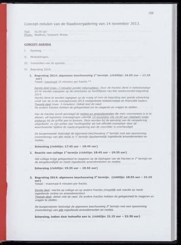Breda - Notulen van de gemeenteraad 2013-11-14
