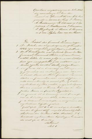 Princenhage - Notulen van de gemeenteraad 1854
