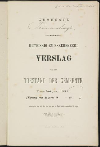 Princenhage - Verslagen van de toestand van de gemeente 1886-01-01