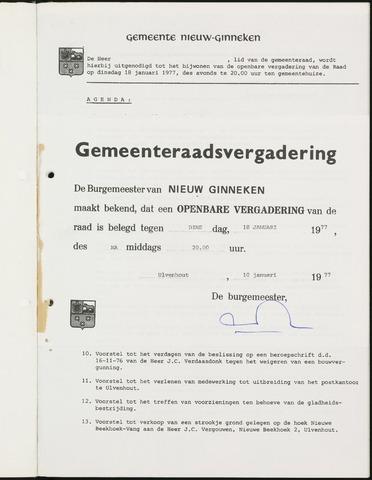 Nieuw-Ginneken - Notulen en bijlagen van de gemeenteraad 1977