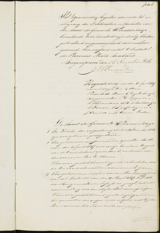 Princenhage - Notulen van de gemeenteraad 1837