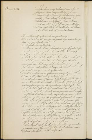 Princenhage - Notulen van de gemeenteraad 1900