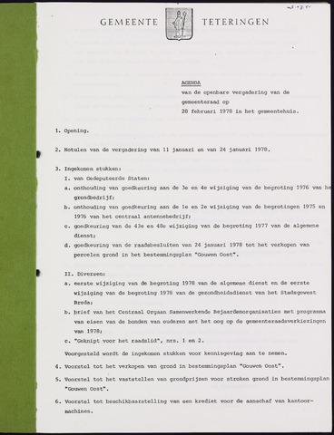 Teteringen - Notulen en bijlagen van de gemeenteraad 1978-02-28