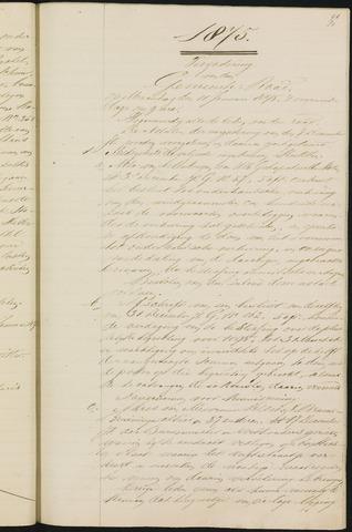 Teteringen - Notulen en bijlagen van de gemeenteraad 1875