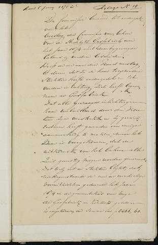 Breda - Bijlagen bij de notulen van de gemeenteraad 1875