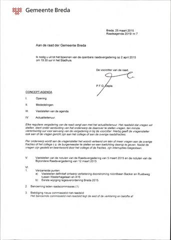 Breda - Bijlagen bij de notulen van de gemeenteraad 2015-04-02