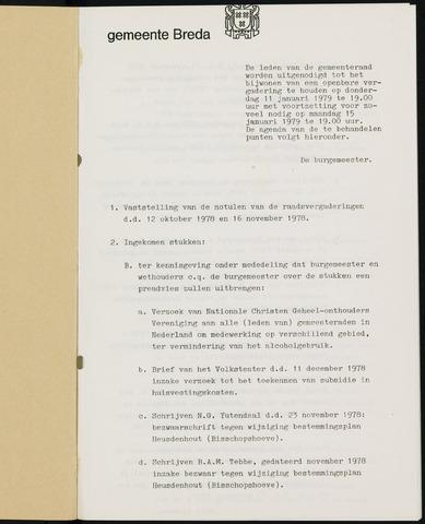 Breda - Bijlagen bij de notulen van de gemeenteraad 1979-01-01