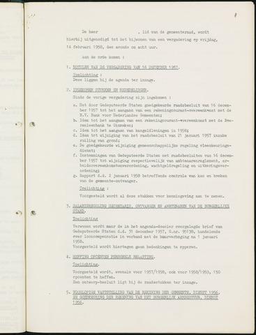 Nieuw-Ginneken - Notulen en bijlagen van de gemeenteraad 1958