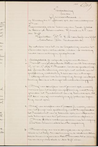 Teteringen - Notulen en bijlagen van de gemeenteraad 1903