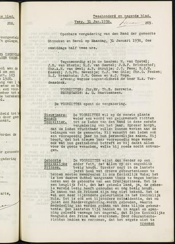 Ginneken en Bavel - Notulen van de gemeenteraad 1938-01-01