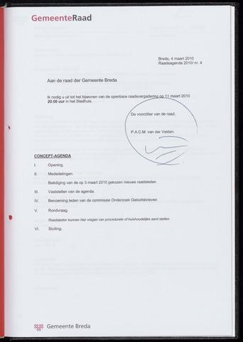 Breda - Bijlagen bij de notulen van de gemeenteraad 2010-03-11