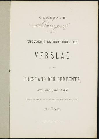 Teteringen - Verslagen van de toestand van de gemeente 1882