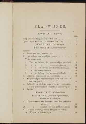 Breda - Verslagen van de toestand van de gemeente 1887