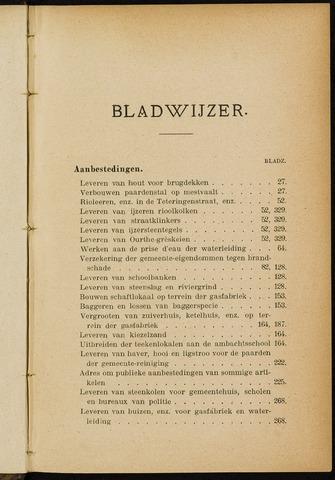 Breda - Indexen op de notulen van de gemeenteraad 1903-01-01