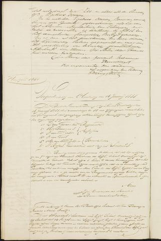Teteringen - Notulen en bijlagen van de gemeenteraad 1851-01-01