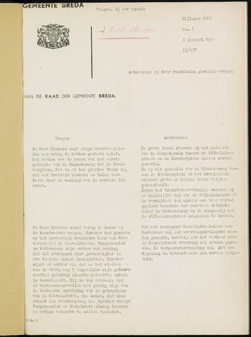 Breda - Bijlagen bij de notulen van de gemeenteraad 1956-01-01