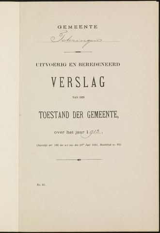 Teteringen - Verslagen van de toestand van de gemeente 1913