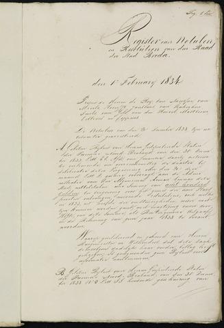 Breda - Notulen van de gemeenteraad 1834-01-01