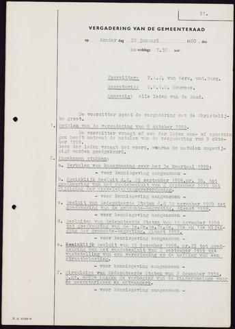 Teteringen - Notulen en bijlagen van de gemeenteraad 1960